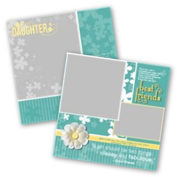 Mother Daughter 12x12 Page Print Templates