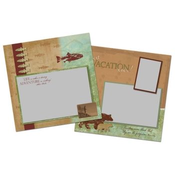 My Fishing Trip 12x12 Page Print Templates