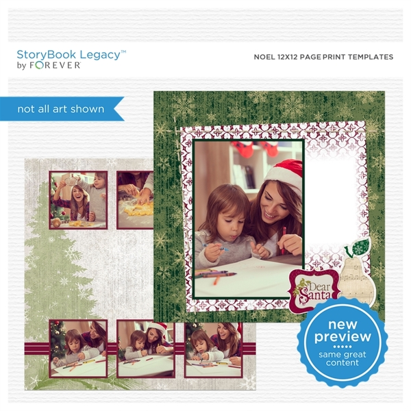 Noel 12x12 Page Print Templates