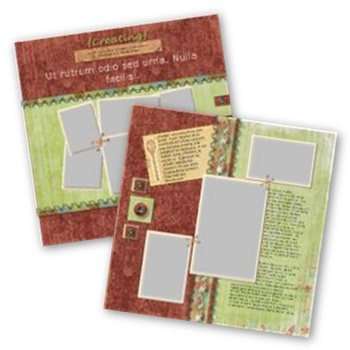 Recipe Book 12x12 Page Print Templates