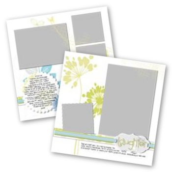 Reflections 12x12 Page Print Templates