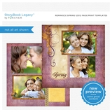 Reminisce Spring 12x12 Page Print Templates