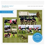 Rugby 12x12 Page Print Templates