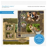 Rugged 12x12 Page Print Templates