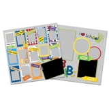 School Picture Days 12x12 Page Print Templates