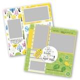 Springtime 12x12 Page Print Templates