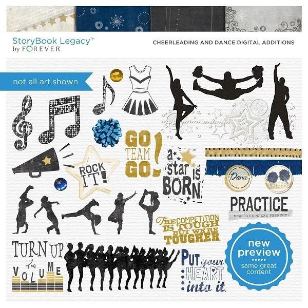 Cheerleading And Dance Digital Additions Digital Art - Digital Scrapbooking Kits