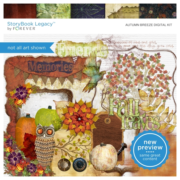Autumn Breeze Digital Kit Digital Art - Digital Scrapbooking Kits