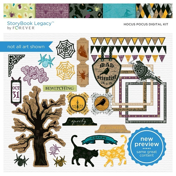 Hocus Pocus Digital Kit Digital Art - Digital Scrapbooking Kits