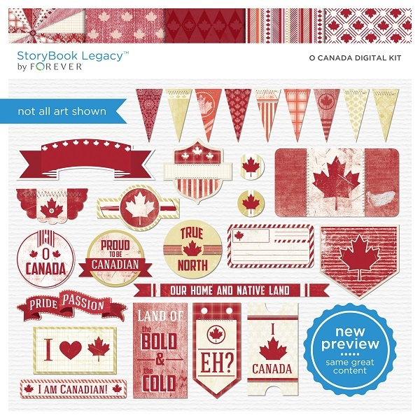 O' Canada Digital Kit Digital Art - Digital Scrapbooking Kits