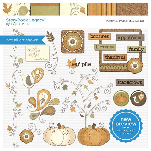 Pumpkin Patch Digital Kit Digital Art - Digital Scrapbooking Kits