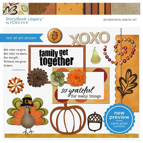 So Grateful Digital Kit Digital Art - Digital Scrapbooking Kits