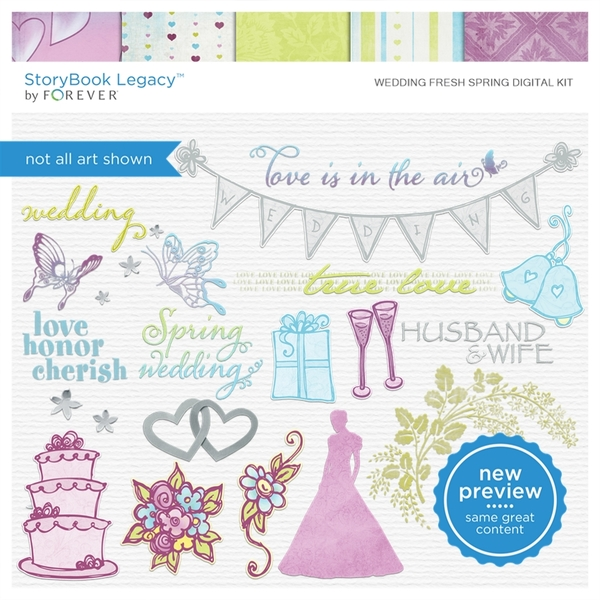 Wedding Fresh Spring Digital Kit