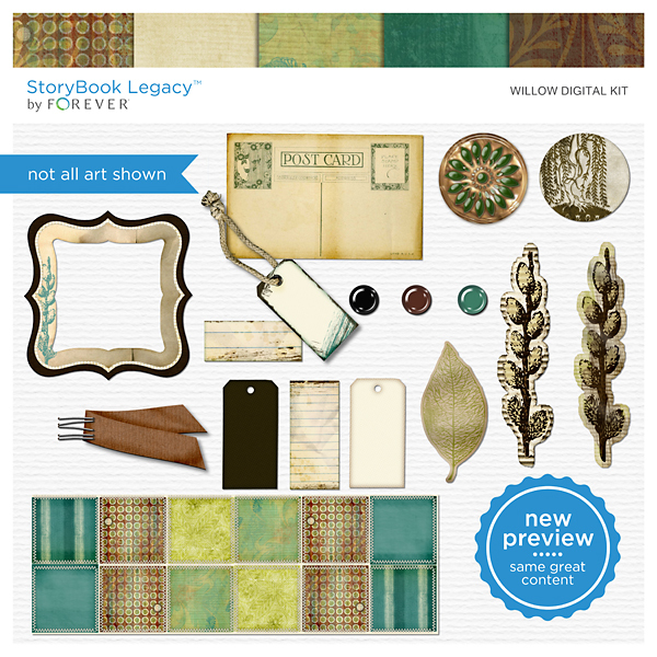 Willow Digital Kit Digital Art - Digital Scrapbooking Kits