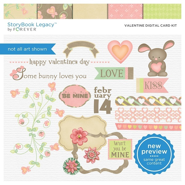 Valentine Digital Card Kit