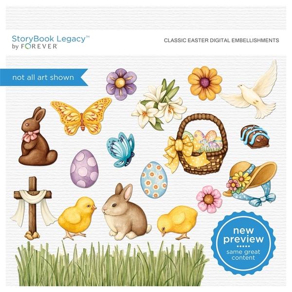 Classic Easter Digital Embellishments