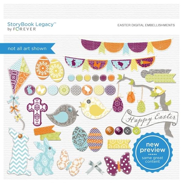 Easter Digital Embellishments