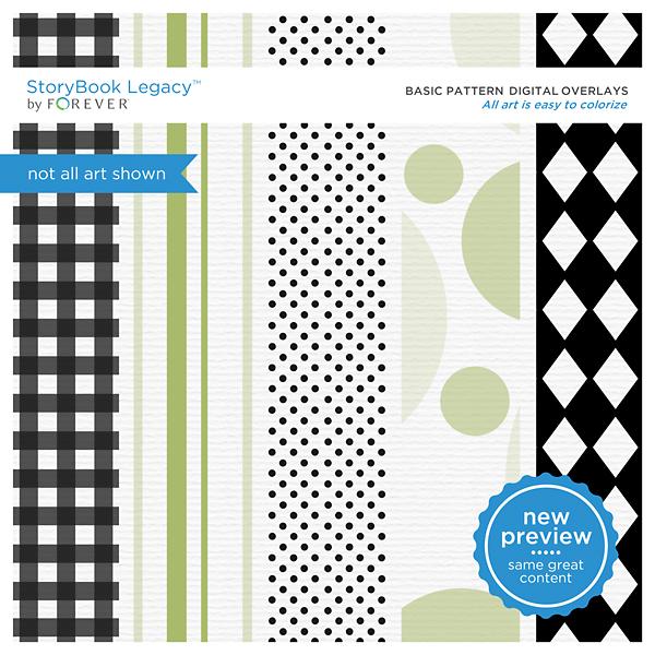 Basic Pattern Digital Overlays Digital Art - Digital Scrapbooking Kits