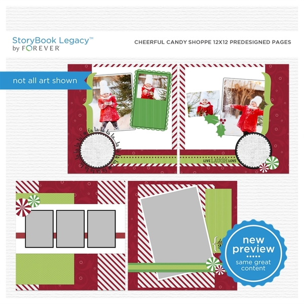 Cheerful Candy Shoppe 12x12 Predesigned Pages