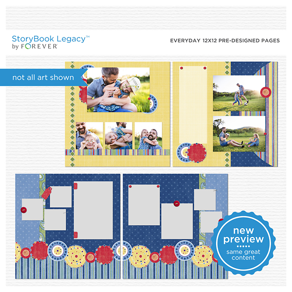 Everyday 12x12 Predesigned Pages