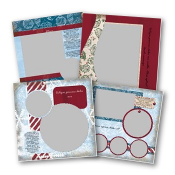 Jewel Christmas 12x12 Predesigned Pages