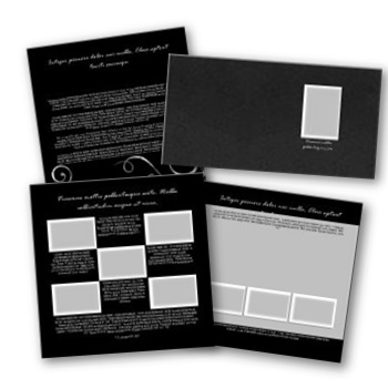 Just Black Gallery 12x12 Predesigned Pages