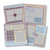 Pastel 12x12 Predesigned Pages