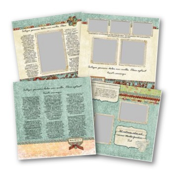 Recipe Book 12x12 Predesigned Pages