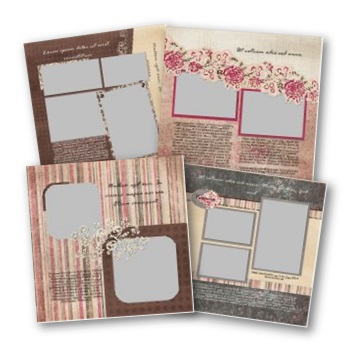 Romance 12x12 Predesigned Pages