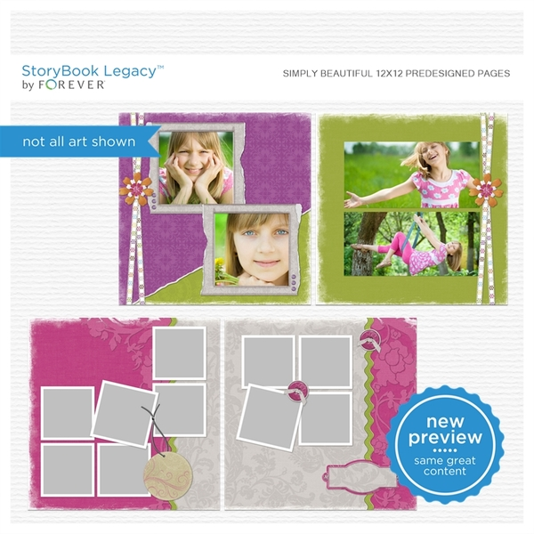 Simply Beautiful 12x12 Predesigned Pages
