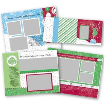 Candy Cane 11x8.5 Predesigned Pages