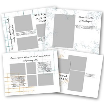 Ten Questions Holidays 11x8.5 Predesigned Pages