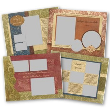 Vintage 11x8.5 Predesigned Pages