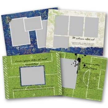 Soccer 7x5 Predesigned Pages