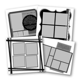 Click And Fill III 12x12 Digital Pages