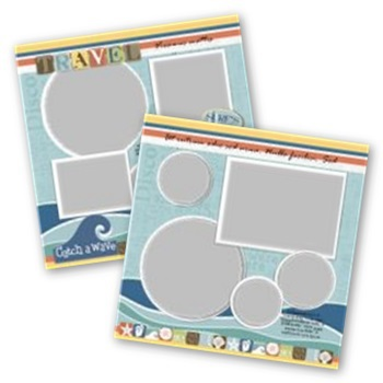 Catch A Wave 12x12 Page Print Templates