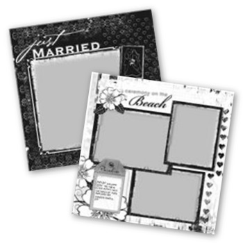 Destination Wedding 12x12 Page Print Templates For Storybook Creator