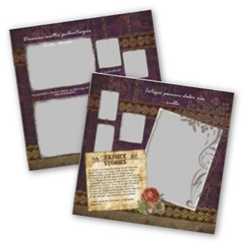 Family 12x12 Page Print Templates