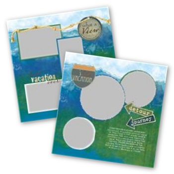 What A View 12x12 Page Print Templates