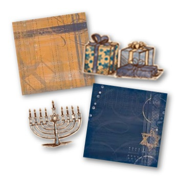 Jewel Hanukkah Digital Additions Digital Art - Digital Scrapbooking Kits