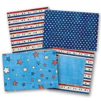 Primary 4th Of July Digital PP Additions Digital Art - Digital Scrapbooking Kits