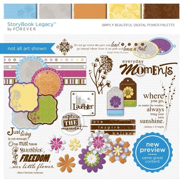 Simply Beautiful Digital Power Palette Digital Art - Digital Scrapbooking Kits