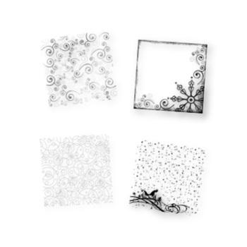 Winter Frost Digital Overlays
