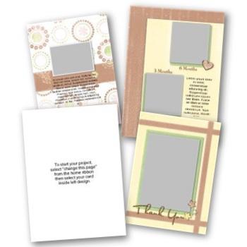 Baby 5x7 Portrait Folded Card Templates Digital Art - Digital Scrapbooking Kits