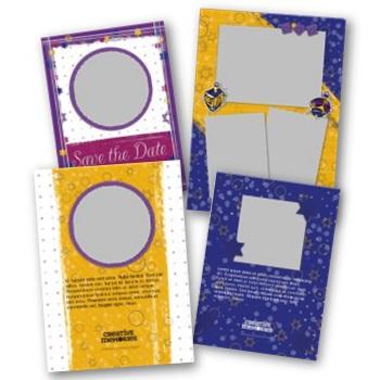 Judaic 5x7 Portrait Folded Card Templates Digital Art - Digital Scrapbooking Kits