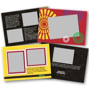 Kwanzaa 5x7 Landscape Folded Card Templates Digital Art - Digital Scrapbooking Kits