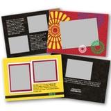 Kwanzaa 5x7 Landscape Folded Card Templates