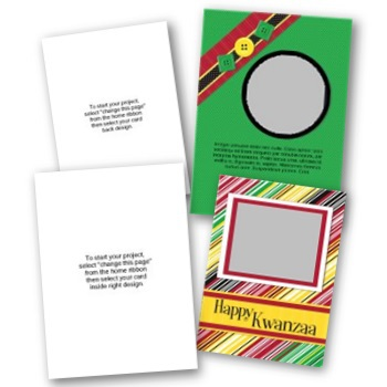 Kwanzaa 5x7 Portrait Folded Card Templates Digital Art - Digital Scrapbooking Kits