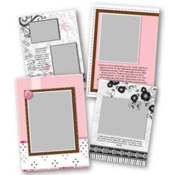 Thank You Ii 5x7 Portrait Folded Card Templates
