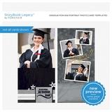 Graduation 4x8 Portrait Photo Card Templates